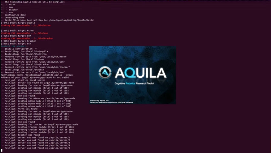 Aquila 2.0 - 1min to download, compile, install and create new module
